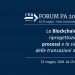 I vantaggi della Blockchain per la Pubblica Amministrazione al Forum PA 2018